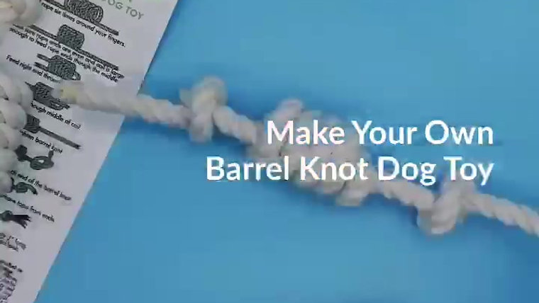 MYO Barrel Knot Dog Toy