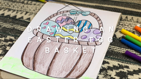 Drawing an Easter Egg Basket
