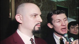 Anton LaVey KRON Newscast: Anton LaVey and Terry Hallinan Outside Courtroom