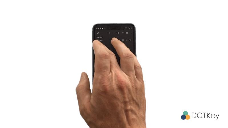 DOTKey on Smartphone