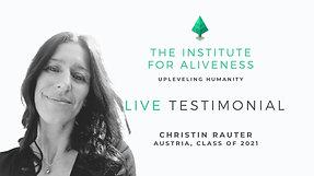 TIFA Testimonial  Christin