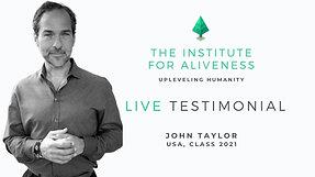 John Taylor Testimonial