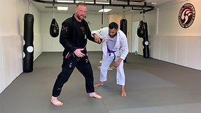 Shawn foot sweep and knee pick