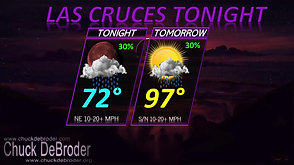 LAS CRUCES FORECAST TONIGHT THURSDAY, AUGUST 6TH, 2020