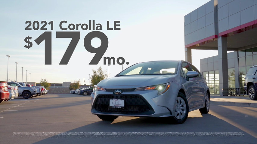 SAVE MONEY WITH A TOYOTA COROLLA THIS MONTH