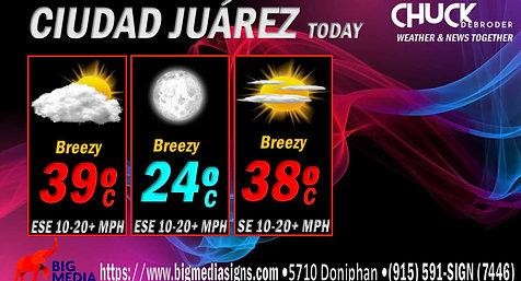 CIUDAD JUÁREZ FORECAST TODAY TUESDAY, JUNE 15TH, 2021