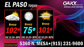 EL PASO FORECAST TODAY TUESDAY, JUNE 15TH, 2021
