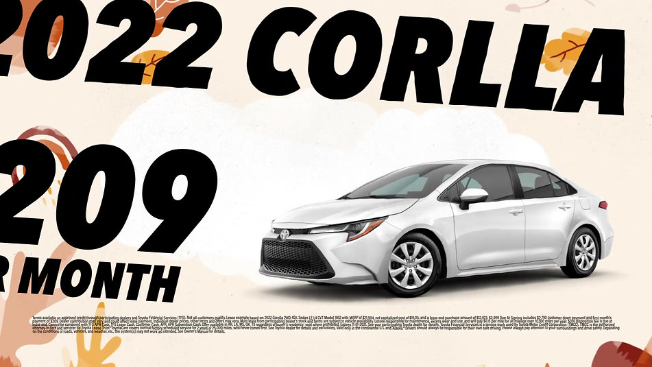 FALL IS HERE WITH THE NEW TOYOTA COROLLA 2022