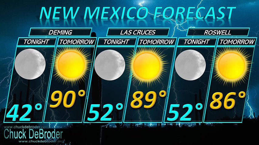 NEW MEXICO FORECAST TONIGHT WEDNESDAY, SEPTEMBER 30TH, 2020