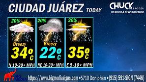 CIUDAD JUÁREZ FORECAST TODAY MONDAY, JULY 26TH, 2021