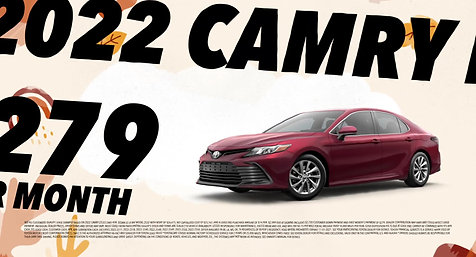 FALL IS HERE WITH THE NEW TOYOTA CAMRY 2022