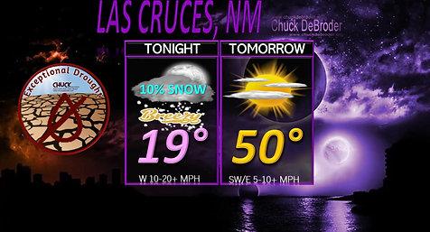 LAS CRUCES FORECAST TONIGHT TUESDAY, JANUARY 26TH, 2021