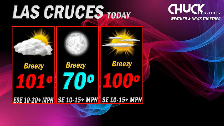 LAS CRUCES FORECAST TODAY TGUESDAY, JUNE 15TH, 2021