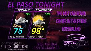 EL PASO FORECAST TONIGHT THURSDAY, AUGUST 6TH, 2020