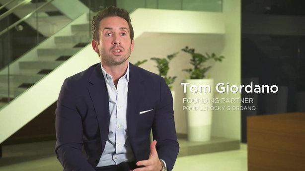Tom Giordano, Pond Lehocky Testimonial