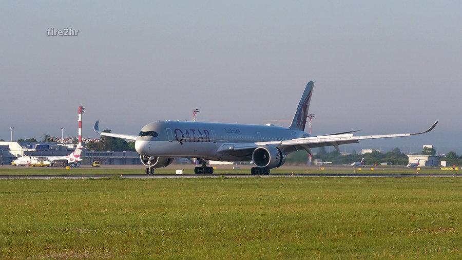 Prvi dolazak zrakoplova tipa A350-1000 u Zagreb