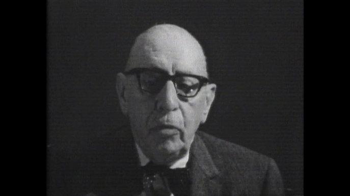 excerpt from CBS Stravinsky Austin visit documentary 1965