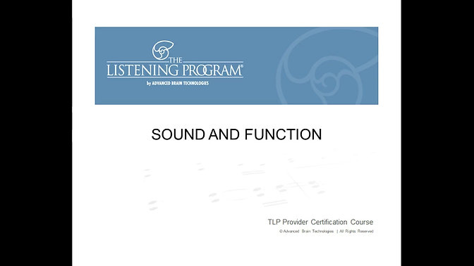 2. Sound and Function