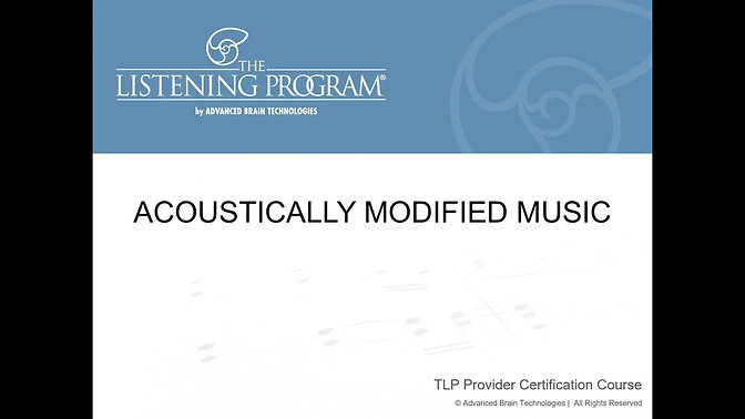 3. Acoustically Modified Music