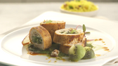 Kiwifruit Centered Chicken Roulade