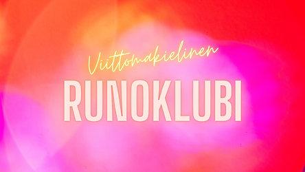 Viittomakielinen Runoklubi 2021 - Save the date!