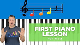 Piano Lesson for Kids!