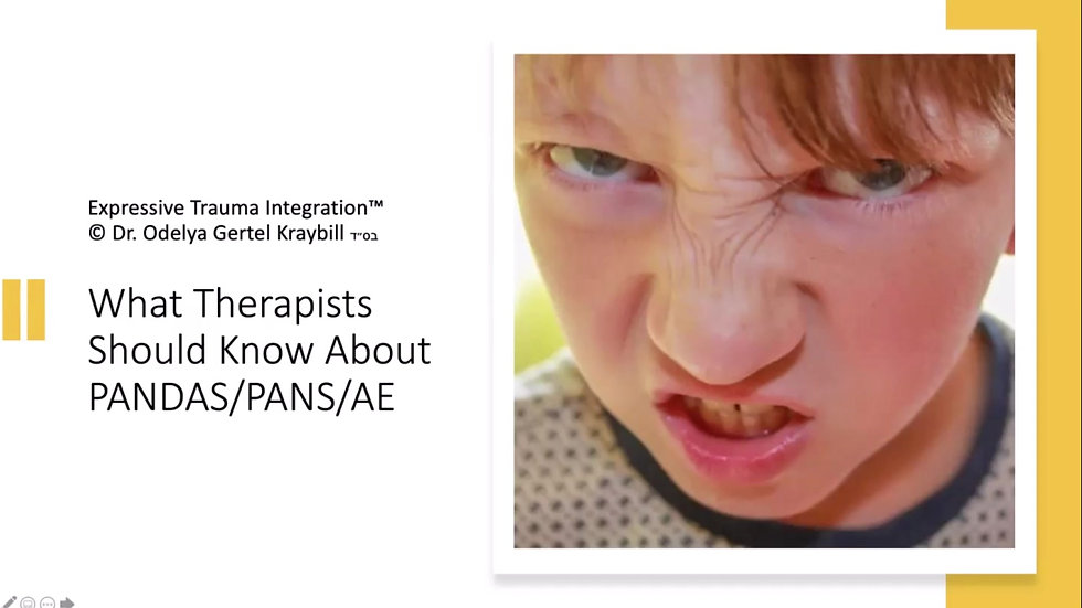 What Therapists Should Know About PANDAS/PANS/PE