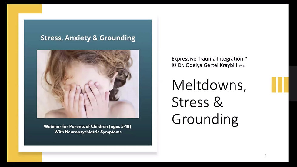 Meltdowns, Stress & Grounding