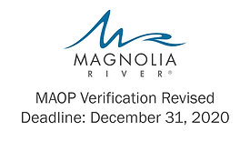 MAOP Verification Revised Deadline