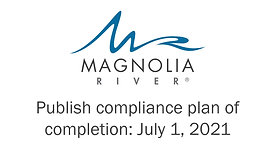 Publish Compliance Plan of Completion