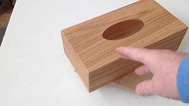 Oak Wrapped Rect. Tissue box