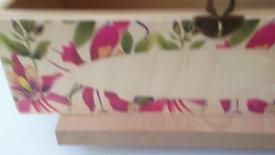 Rect. Tissue box, Purple Orchids