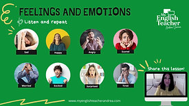 Vocabulary words feelings and emotions