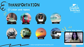 English vocabulary transportation