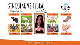 English Vocabulary Singular vs Plural