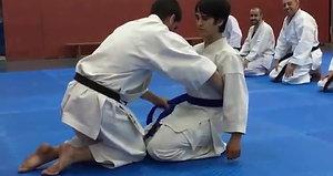 Entrega cinturón Azul a Eduardo