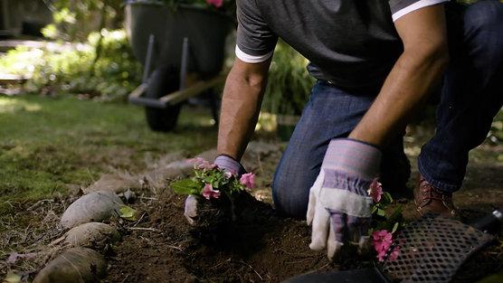 Aerating soil