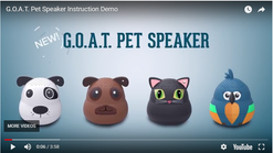 G.O.A.T. Pet Speaker - Instructional video