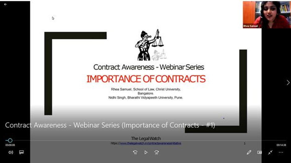 Contract Awareness - Webinar Series (Importance of Contracts - #1)
