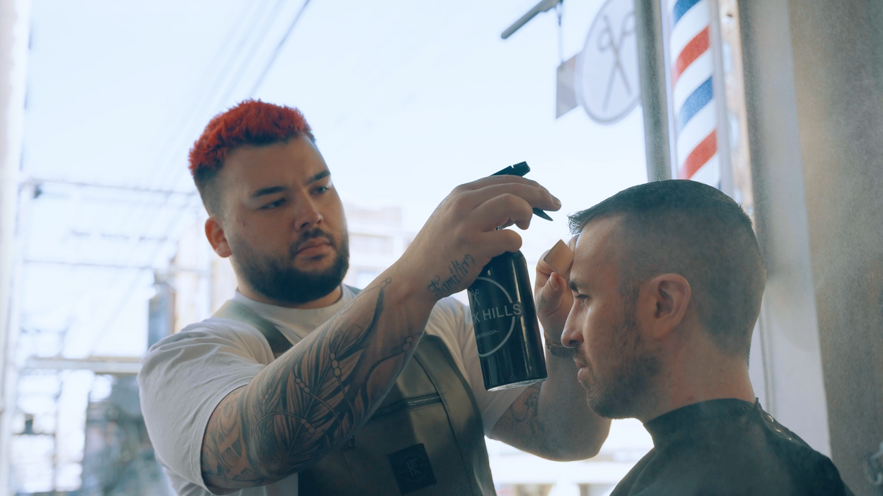 // A TYPICAL DAY AT BLACK HILLS BARBERSHOP //