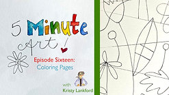5-Minute Art: Episode 16 - Coloring Pages