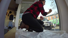 Delilah.{in the Glebe} Window Painting Time Lapse