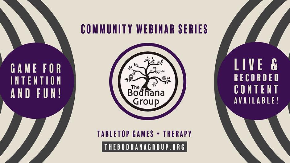 TBG Community Webinar Series