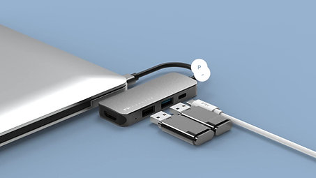 Portable 4 in 1 USB-C Hub