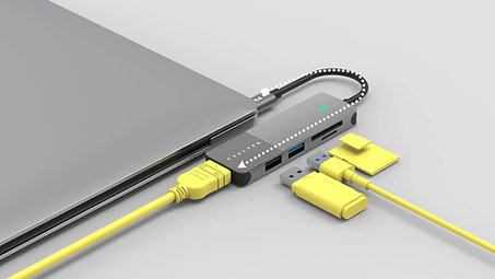 Portable 5-in-1 USB-C Hub Product Video