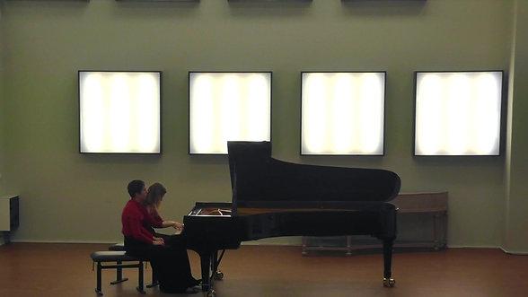 F. Poulenc, Piano sonata for four hands - III Finale