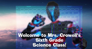 Robot typing welcome to Mrs Crowells