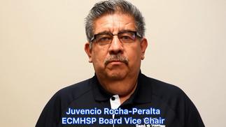 """""""Unámonos contra el COVID-19. ¡Cuando llegue tu turno, vacúnate!"""" — Juvencio Rocha-Peralta, Vicepresidente de la Mesa Directiva de ECMHSP"""