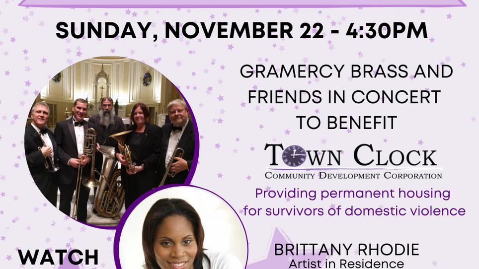 Gramercy Brass Benefit for Town Clock CDC