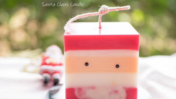 Christmas Candle Set Online Class_Santa Claus Candle